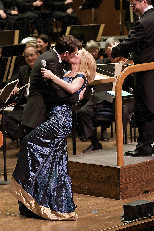 Kelli O'Hara and Paulo Szot performing at Avery Fischer Hall for The Richard Tucker Music Foundation Gala