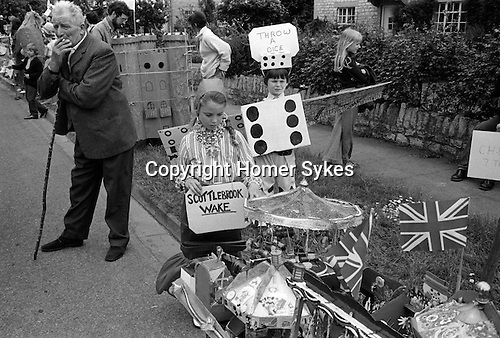 Scuttlebrook Wake Chipping Campden Gloucestershire England 1973. Children fancy dress parade.