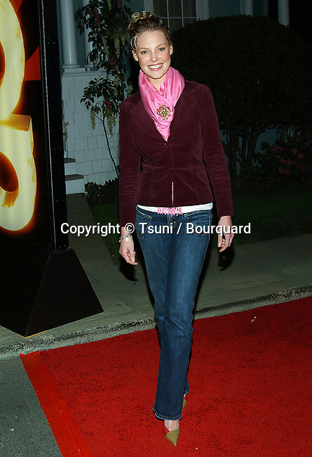 Katherine Heigl arriving at the ABC - tca Winter Party on the Universal Lot, on the Wisteria Lane in Los Angeles. January 5, 2005.