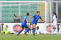 Cristina Girelli celebrates after scoring the goal of 1-0<br /> Palermo 08-10-2019 Stadio Renzo Barbera <br /> UEFA Women's European Championship 2021 qualifier group B match between Italia and Bosnia-Herzegovina.<br /> Photo Carmelo Imbesi / Insidefoto
