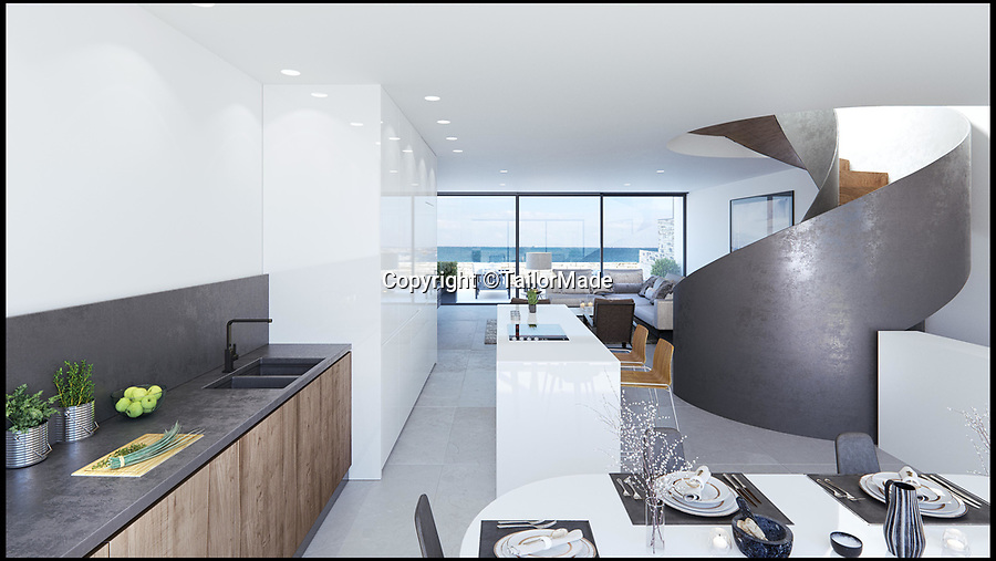 BNPS.co.uk (01202 558833)Pic: TailorMade/BNPS<br /> <br /> Plans for the luxurious home on Sandbanks.<br /> <br /> The new owners of a luxury home on Sandbanks will have to pass an interview with their multi-millionaire neighbour before they can buy it. <br /> <br /> Businessman Ashley Faull is building two seafront homes on one large plot on the exclusive Dorset peninsula; one for him and his wife and the other which he intends to sell for £4m.<br /> <br /> But just meeting the hefty asking price won't be enough for prospective buyers as Mr Faull, 51, insists on holding informal interviews with them to make sure the couple will get along with their new neighbours.<br /> <br /> And he said he is even prepared to sell the brand new three bedroom property called 'Sunshine' for less than the asking price if it means finding the right buyer.