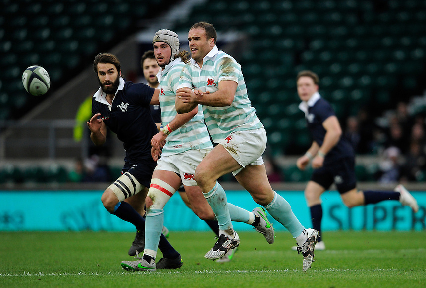 Cambridge University&rsquo;s Jamie Roberts in action during todays match<br /> <br /> Photographer Ashley Western/CameraSport<br /> <br /> Rugby Union - 2015 Varsity Match - Oxford v Cambridge - Thursday 10th December 2015 - Twickenham - London<br /> <br /> &copy; CameraSport - 43 Linden Ave. Countesthorpe. Leicester. England. LE8 5PG - Tel: +44 (0) 116 277 4147 - admin@camerasport.com - www.camerasport.com