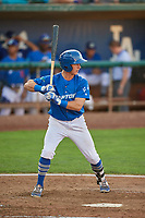 Rylan Bannon (18) of the Ogden Raptors bats against the Idaho Falls Chukars at Lindquist Field on August 28, 2017 in Ogden, Utah. Ogden defeated Idaho Falls 7-1. (Stephen Smith/Four Seam Images)