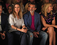 MIAMI, FL - MAY 31: Nicole Kimpel, Antonio Banderas and Valeria Mazza are sighted at the Rene Ruiz Fashion Show during Miami Fashion Week at the Ice Palace Studios on May 31, 2018 in Miami Florida <br /> CAP/MPI04<br /> &copy;MPI04/Capital Pictures