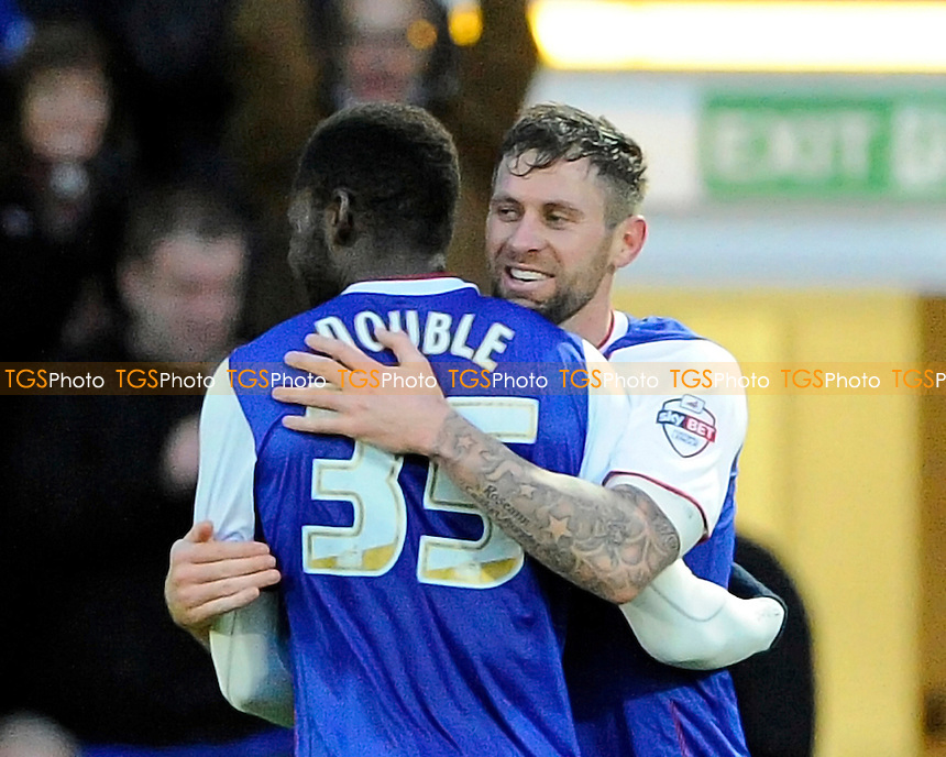 Daryl Murphy of Ipswich Town and Frank Nouble of Ipswich Town celebrate - AFC Bournemouth vs Ipswich Town - Sky Bet Championship Football at the Goldsands Stadium, Bournemouth, Dorset - 29/12/13 - MANDATORY CREDIT: Denis Murphy/TGSPHOTO - Self billing applies where appropriate - 0845 094 6026 - contact@tgsphoto.co.uk - NO UNPAID USE