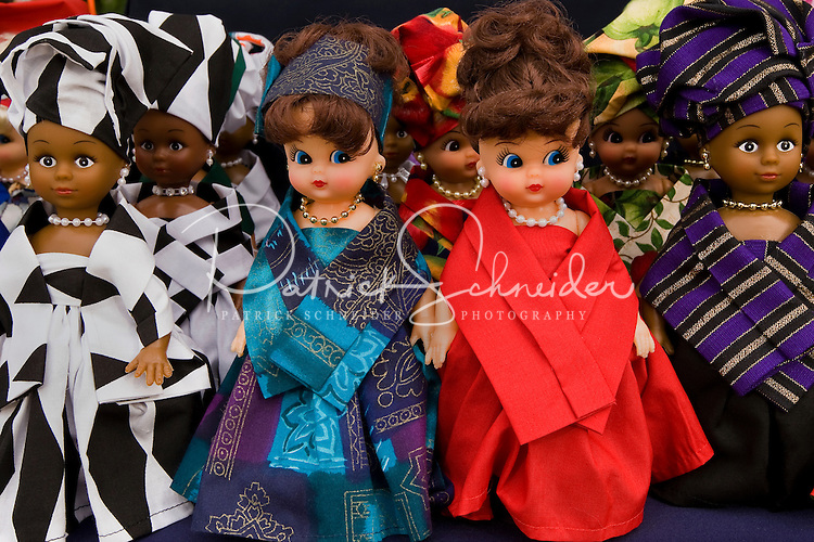 Dolls on display for sale. For more than four decades, Charlotte's annual Festival in the Park has brought music, art and fun to Charlotteans and visitors. The festival has been chosen as one of Sunshine Artists Magazine's 200 Best Festivals.