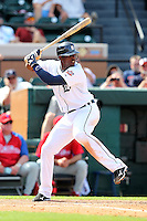 Detroit Tigers Audy Ciriaco #18 during a Spring Training game vs the Philadelphia Phillies at Joker Marchant Stadium in Lakeland, Florida;  March 6, 2011.  Detroit defeated Philadelphia 2-1.  Photo By Mike Janes/Four Seam Images