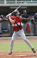 Justin O'Conner of Cowan High School in Muncie, Indiana at the Tournament of Stars event run by USA Baseball at the USA Baseball National Training Complex in Cary, NC on June 23, 2009. O'Conner was drafted in the 1st round (31st overall) by the Tampa Bay Rays in the 2010 MLB Draft.  Photo by Robert Gurganus/Four Seam Images