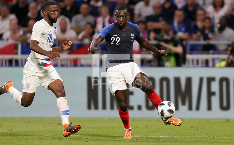 Lyon, France - Saturday June 09, 2018: Benjamin Mendy during an international friendly match between the men's national teams of the United States (USA) and France (FRA) at Groupama Stadium.