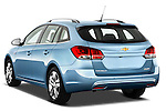 Rear three quarter view of a 2013 Chevrolet Cruze SW LTZ wagon