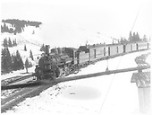 #471 with westbound San Juan arriving Cumbres, CO.  RPO, 2 baggage cars and 2 coaches.<br /> D&amp;RGW  Cumbres, CO