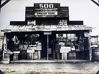 BNPS.co.uk (01202 558833)<br /> Pic: Elstob&Elstob/BNPS<br /> <br /> Nome grocery store in the early 1900's - they supplied everything the early pioneers might possibly need.<br /> <br /> Fascinating photos documenting the famous Alaska 'gold rush' have come to light 120 years later.<br /> <br /> Thousands of people chasing riches ventured into the North American wilderness after gold was discovered in Nome in 1899.<br /> <br /> Over the next decade a staggering 112 tonnes of gold was sourced.<br /> <br /> Unsurprisingly, everyone wanted a piece of the action, leading to a huge influx of people to the area.<br /> <br /> Its transformation into a thriving metropolis was documented by acclaimed American photographer Frank Nowell.