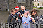 Listowel gets ready for the visit of Dublin Footballer Bernard Brogan on Friday pictured are Jennifer Stack, Billy Keane, Kerry Footballer Tom O'Sullivan, and Kelly Browne, Listowel gets ready for the visit of Dublin Footballer Bernard Brogan on Friday pictured are Jennifer Stack, Billy Keane, Kerry Footballer Tom O'Sullivan, and Kelly Browne,
