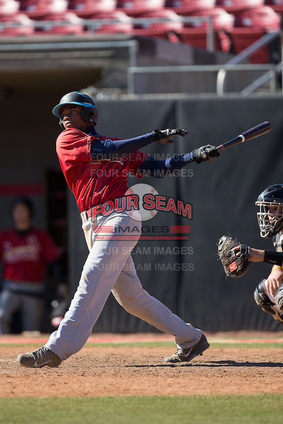 DJ Daniels (23) of Ralph L. Fike High School in Wilson, North Carolina playing for the St. Louis Cardinals scout team at the South Atlantic Border Battle at Doak Field on November 2, 2014.  (Brian Westerholt/Four Seam Images)