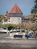 Rheintorturm in Konstanz, Baden-W&uuml;rttemberg, Deutschland, Europa<br /> Rhinegate tower Rheintorturm, Constance, Baden-W&uuml;rttemberg, Germany, Europe