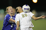 7 November 2007: Wake Forest's Megan Upchurch (26) traps the ball, defended by Duke's Rebecca Allen (2). Wake Forest University defeated Duke University 1-0 in overtime at the Disney Wide World of Sports complex in Orlando, FL in an Atlantic Coast Conference tournament quarterfinal match.