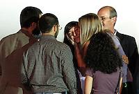 Rossella Urru accolta dai parenti al suo sbarco all'aeroporto militare di Ciampino, Roma, 19 luglio 2012. La cooperante italiana e i due cooperanti spagnoli rapiti da un gruppo jihadista in Algeria e tenuti sequestrata per 10 mesi nel nord del Mali, sono stati trasferiti in Burkina Faso per poi fare ritorno nei rispettivi paesi. .Rossella Urru is welcomed by relatives after disembarking at Ciampino's military airport in Rome, 19 july 2012. Italian cooperant Rossella Urru and other two spanish cooperants kidnapped in Algeria and freed after being held for the past 10 months by a jihadist group in north Mali, landed in Burkina Faso before to go back to their homelands..© UPDATE IMAGES PRESS/Riccardo De Luca De Luca