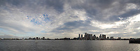 Skyline clouds panorama from Piers Park, East Boston