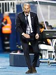 Real Madrid's coach Zinedine Zidane celebrates goal during La Liga match. April 5,2017. (ALTERPHOTOS/Acero)