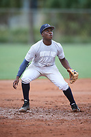 Ryan Spikes (3) during the WWBA World Championship at the Roger Dean Complex on October 11, 2019 in Jupiter, Florida.  Ryan Spikes attends Parkview High School in Lilburn, GA and is committed to Tennessee.  (Mike Janes/Four Seam Images)