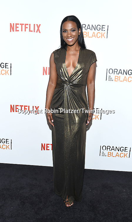 Vicky Jeudy attends NexFlix's &quot;Orange is the New Black&quot; 4th Season New York Premiereon June 16, 2016 at the SVA Theatre in New York City, NY, USA.<br /> <br /> photo by Robin Platzer/Twin Images<br />  <br /> phone number 212-935-0770