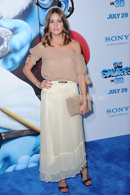 WWW.ACEPIXS.COM . . . . . .July 24, 2011...New York City....Olivia Palermo attends the premiere of 'The Smurfs' at the Ziegfeld Theater on July 24, 2011 in New York City....Please byline: KRISTIN CALLAHAN - ACEPIXS.COM.. . . . . . ..Ace Pictures, Inc: ..tel: (212) 243 8787 or (646) 769 0430..e-mail: info@acepixs.com..web: http://www.acepixs.com .