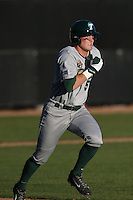 Tim Yandel #5 of the Tulane Green Wave runs the bases during a game against the Pepperdine Waves at Eddy D. Field Stadium on March 13, 2015 in Malibu, California. Tulane defeated Pepperdine, 9-3. (Larry Goren/Four Seam Images)