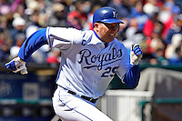 Royals DH Mike Sweeney in action against Detroit at Kauffman Stadium in Kansas City, Missouri on April 7, 2007.  The Tigers won 6-5.