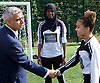 Sadiq Khan, Mayor launches Thrive LDN to challenge mental health stigma and improve care<br /> 4th July 2017<br /> at <br /> The Unity of Faiths Foundation (TUFF) FC football pitches at Stepney Green Park Astroturf, London, Great Britain <br /> <br /> The Mayor meets some of the young football team <br />  <br /> The Mayor will visit TUFF FC (The Unity of Faiths Foundation) to launch Thrive LDN. TUFF FC is a football-based education project, designed to support youth integration and improve the mental well-being of young people. By bringing together children of different faiths and backgrounds, TUFF FC aims to combat issues such as drug addiction, extremism, isolation, gang involvement and knife crime early to prevent young people from developing poor mental health.<br /> <br /> <br /> Photograph by Elliott Franks <br /> Image licensed to Elliott Franks Photography Services