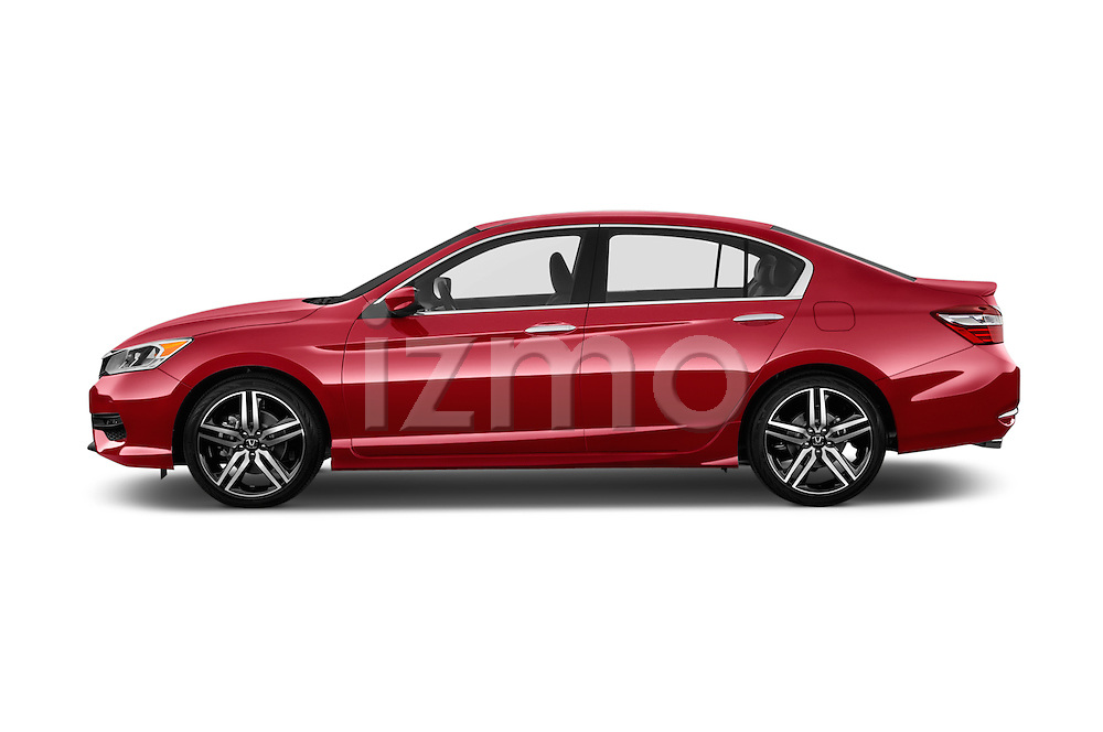 Car Driver side profile view of a 2016 Honda Accord Sport 4 Door Sedan Side View