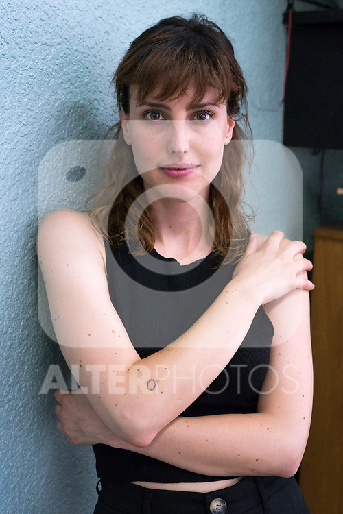 Actress Natalia de Molina attends to the media during 'Las Ninas' filming. August 2, 2019. (ALTERPHOTOS/Francis González)