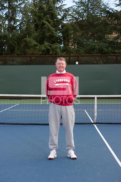 Volunteer Assistant Coach Frank Brennan of the 2010 Stanford women's Tennis Team.