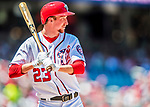 30 July 2017: Washington Nationals pitcher Erick Fedde at bat during his major league debut against the Colorado Rockies at Nationals Park in Washington, DC. The Rockies defeated the Nationals 10-6 in the second game of their 3-game weekend series. Mandatory Credit: Ed Wolfstein Photo *** RAW (NEF) Image File Available ***