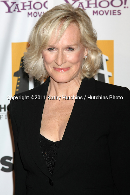 LOS ANGELES - OCT 24:  Glenn Close arriving at the 15th Annual Hollywood Film Awards Gala at Beverly Hilton Hotel on October 24, 2011 in Beverly Hllls, CA