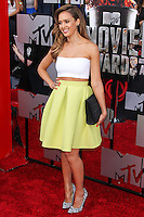 LOS ANGELES, CA, USA - APRIL 13: Actress Jessica Alba arrives at the 2014 MTV Movie Awards held at Nokia Theatre L.A. Live on April 13, 2014 in Los Angeles, California, United States. (Photo by Xavier Collin/Celebrity Monitor)