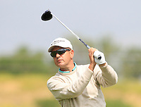 Vicente Blazquez (ESP) on the 1st tee during Round 1 of the Challenge de Madrid, a Challenge  Tour event in El Encin Golf Club, Madrid on Wednesday 22nd April 2015.<br /> Picture:  Thos Caffrey / www.golffile.ie