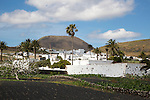 Whitewashed houses, village of Maguez, Lanzarote, Canary Islands, Spain