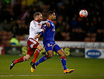 Matt Done of Sheffield Utd and Timothy Dieng of Oldham Athletic - FA Cup Second round - Sheffield Utd vs Oldham Athletic - Bramall Lane Stadium - Sheffield - England - 5th December 2015 - Picture Simon Bellis/Sportimage