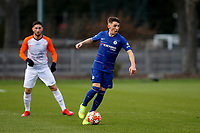 Billy Gilmour of Chelsea in action during Chelsea Under-19 vs Montpellier HSC Under-19, UEFA Youth League Football at the Cobham Training Ground on 13th March 2019