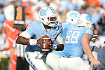 24 October 2015: UNC's Marquise Williams. The University of North Carolina Tar Heels hosted the University of Virginia Cavaliers at Kenan Memorial Stadium in Chapel Hill, North Carolina in a 2015 NCAA Division I College Football game. UNC won the game 26-13.