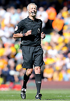 Referee Martin Atkinson<br /> <br /> Photographer Rich Linley/CameraSport<br /> <br /> The Premier League - Liverpool v Wolverhampton Wanderers - Sunday 12th May 2019 - Anfield - Liverpool<br /> <br /> World Copyright © 2019 CameraSport. All rights reserved. 43 Linden Ave. Countesthorpe. Leicester. England. LE8 5PG - Tel: +44 (0) 116 277 4147 - admin@camerasport.com - www.camerasport.com