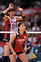 (L to R) Kim Yeon-Koung (KOR), Yoshie Takeshita (JPN),.MAY 23, 2012 - Volleyball : FIVB the Women's World Olympic Qualification Tournament for the London Olympics 2012, between Japan 1-3 Korea at Tokyo Metropolitan Gymnasium, Tokyo, Japan. (Photo by Jun Tsukida/AFLO SPORT) [0003]..