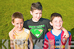 FUN TIME: Having a fun time at the Ballymac GAA Family Fun Day at the Ballymac grounds on Sunday l-r: Michael Reidy, Ryan O'Sullivan and Robert Dowd..