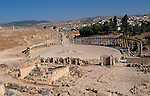 Jordan, Jerash. A view of the Forum and the Cardo&amp;#xA;<br />