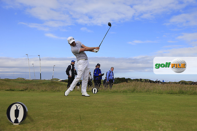 Luke Donald (ENG) tees off the 15th tee during Sunday's Round 3 of the 144th Open Championship, St Andrews Old Course, St Andrews, Fife, Scotland. 19/07/2015.<br /> Picture Eoin Clarke, www.golffile.ie