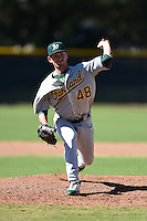 Oakland Athletics pitcher Derek Beasley (48) during an Instructional League game against the San Francisco Giants on October 13, 2014 at Giants Baseball Complex in Scottsdale, Arizona.  (Mike Janes/Four Seam Images)