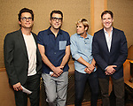 Matt Bomer, Zachary Quinto, Charlie Carver and Brian Hutchison attend Broadway's 'Boys in the Band' hosted Midnight Performance of 'Three Tall Women' to Honor Director Joe Mantello at the Golden Theatre on May 17, 2018 in New York City.
