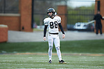 Zach Murphy (88) of the Wake Forest Gold Team prepares to kick-off during the Wake Forest Football Spring Game at BB&T Field on April 7, 2018 in Winston-Salem, North Carolina.  The Gold Team defeated the Black Team 26-6.  (Brian Westerholt/Sports On Film)