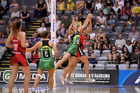 Pulse' Sulu Fitzpatrick in action during the ANZ Premiership - Pulse v Tactix  at Fly Palmy Arena, Palmerston North, New Zealand on Sunday 10 March 2019. <br /> Photo by Masanori Udagawa. <br /> www.photowellington.photoshelter.com