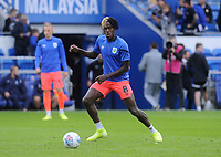 Huddersfield Town's Trevoh Chalobah during the pre-match warm-up <br /> <br /> Photographer Ian Cook/CameraSport<br /> <br /> The EFL Sky Bet Championship - Cardiff City v Huddersfield Town - Wednesday August 21st 2019 - Cardiff City Stadium - Cardiff<br /> <br /> World Copyright © 2019 CameraSport. All rights reserved. 43 Linden Ave. Countesthorpe. Leicester. England. LE8 5PG - Tel: +44 (0) 116 277 4147 - admin@camerasport.com - www.camerasport.com